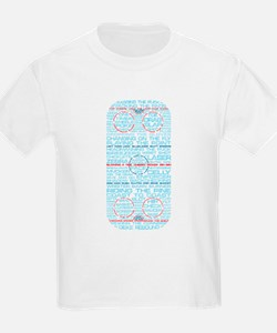 Hockey Rink Typography Design T-Shirt