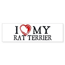 I Heart My Rat Terrier Car Sticker