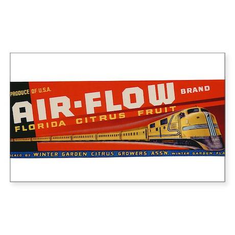 Vintage Airflow Florida Cirtus Fruit Crate Label S