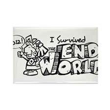 Survived the End 2012 Rectangle Magnet