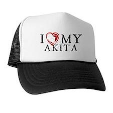 I Heart My Akita Trucker Hat