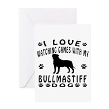 Bullmastiff Design Greeting Card