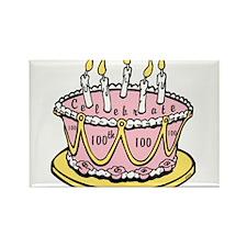 OYOOS 100th Cake design Rectangle Magnet