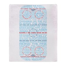 Hockey Rink Typography Design Throw Blanket