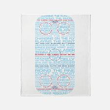 Hockey Rink Typography Design Throw Blanket
