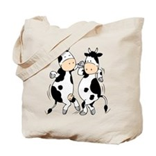Mooviestars - Dancing Cows Tote Bag