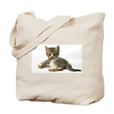 "Cute Tabby Kitten ""Meow"" Tote Bag"