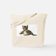 "Cute Tabby Kitten ""Meow"" Tote Bag"