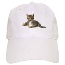 "Cute Tabby Kitten ""Meow"" Baseball Cap"