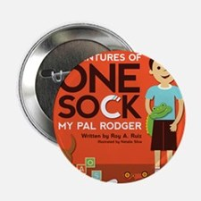 """Adventures of One Sock 2.25"""" Button"""