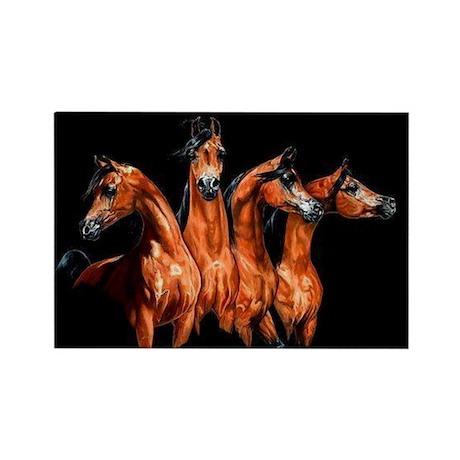 Four Horses Rectangle Magnet