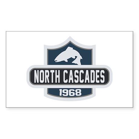 North Cascades Nature Badge Sticker (Rectangle)
