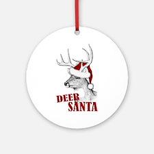 Deer Santa Ornament (Round)