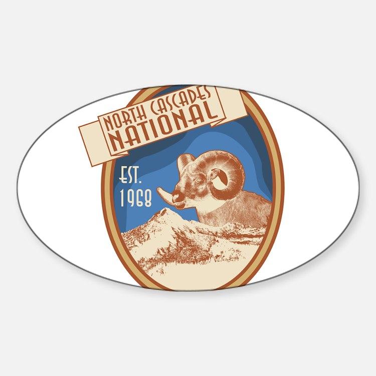 North Cascades Bighorn Badge Decal