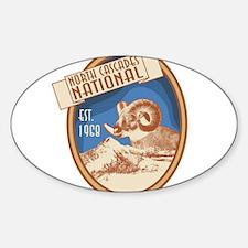 North Cascades Bighorn Badge Sticker (Oval)