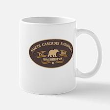 North Cascades Belt Buckle Badge Mug