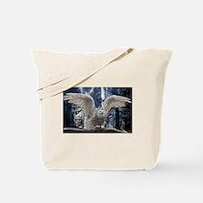Woody Snow Owl Tote Bag