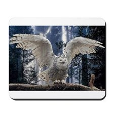 Woody Snow Owl Mousepad