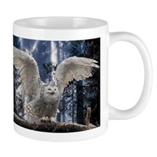 Woody Snow Owl Mug