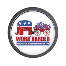Work Harder Wall Clock