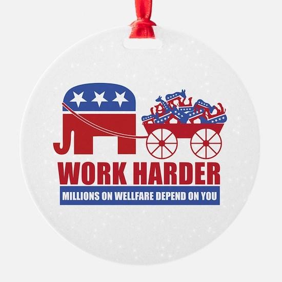 Work Harder Ornament