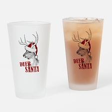 Deer Santa Drinking Glass