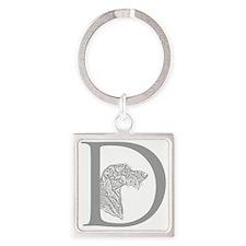 Scottish Deerhound Square Keychain