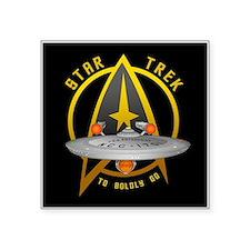 "Star Trek Enterprise Square Sticker 3"" x 3"""