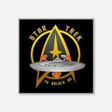 "Star Trek Enterprise Square Sticker 3"" x 3"""
