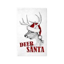 Deer Santa 3'x5' Area Rug