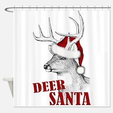 Deer Santa Shower Curtain