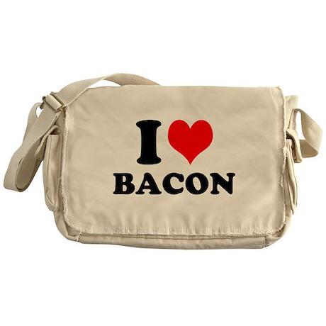 I Love Bacon Messenger Bag