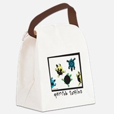 Painted Turtles Canvas Lunch Bag