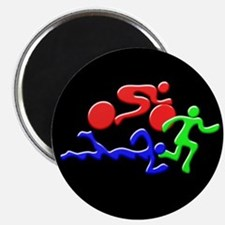 Triathlon Color Figures 3D Magnet