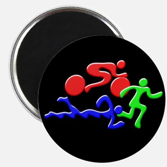 Triathlon Color Figures 3D Magnet
