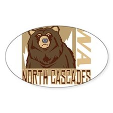 North Cascades Grumpy Grizzly Decal