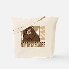 North Cascades Grumpy Grizzly Tote Bag