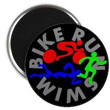 "Triathlon Color Figures FLAT 2.25"" Magnet (10 pack"