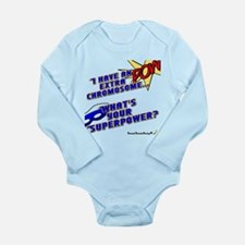 Extra Super Power Long Sleeve Infant Bodysuit