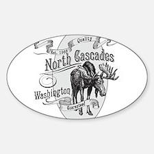North Cascades Vintage Moose Sticker (Oval)