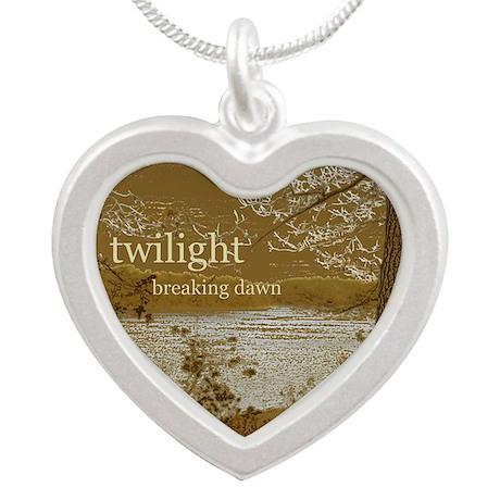 Twilight Breaking Dawn Silver Heart Necklace