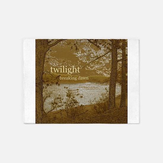 Twilight Breaking Dawn 5'x7'Area Rug