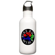 Triathlon Color Figures FLAT Water Bottle