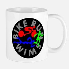 Triathlon Color Figures FLAT Mug