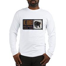 Mt. Rainier Black Bear Badge Long Sleeve T-Shirt