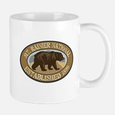 Mt. Rainier Brown Bear Badge Mug