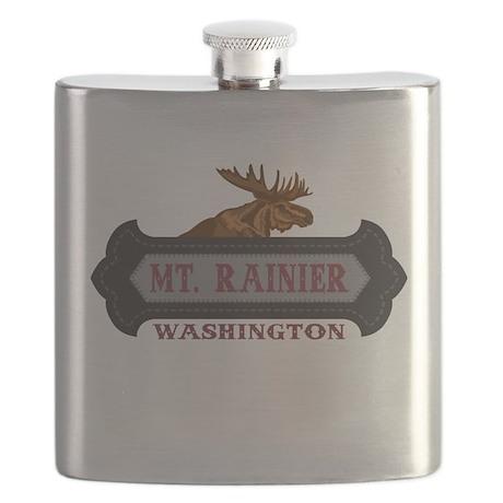 Mt. Rainier Fleur de Moose Flask