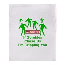 If Zombies Chase Us Throw Blanket