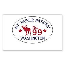 Mt. Rainier Moose Badge Decal