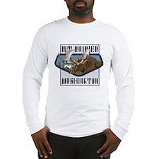 Mt. Rainier Mountaintop Moose Long Sleeve T-Shirt